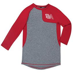New Balance Kids Big Boys' Long Sleeve Performance Tee, Silv