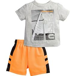 New Balance Little Boys' T-Shirt and Short Set, Grey Heather