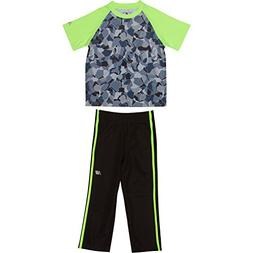 New Balance Toddler Boys' Athletic Tee and Pant Set, Lime Gl