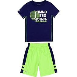 New Balance Toddler Boys' Athletic Tee and Short Set, Basin/