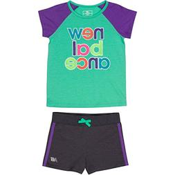 New Balance Toddler Girls' Performance Tee and Short Sets, J