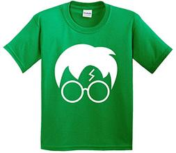 New Way 843 - Youth T-Shirt Harry Potter Hair Glasses Lightn