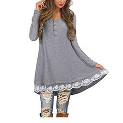 SMALLE ◕‿◕ Clearance,Women Autumn Casual Long Sleeve O