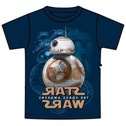 Star Wars BB-8 Droid Tee Boys Youth T Shirt Navy
