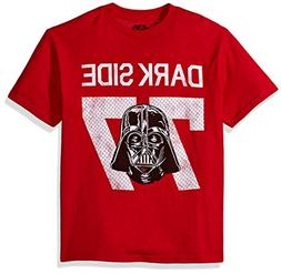 Star Wars Big Boys' Vader Dark Side 77 Jersey Graphic Tee, R