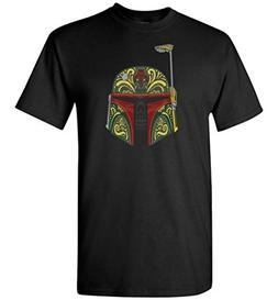 Star Wars Boba Fett Sugar Skull Day of The Dead T-Shirt Men