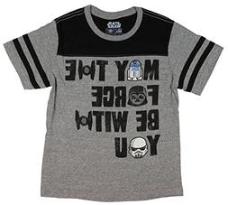 Star Wars Boys' May The Force Be with You Jersey Ringer T-Sh