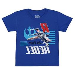 Star Wars R is for Rebel Youth T-Shirt - Royal
