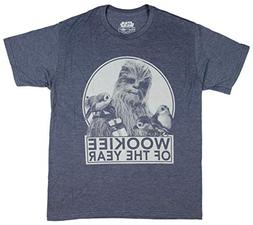 Star Wars T-Shirt Men's Chewbacca Wookie of The Year Porgs T