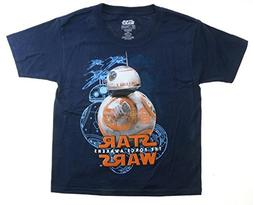 Star Wars The Force Awakens BB-8 Youth Navy Blue T-Shirt, Sm