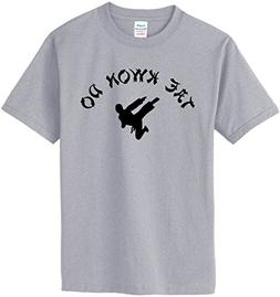 TAE KWON DO T-Shirt~Heather Gray~Youth-MD