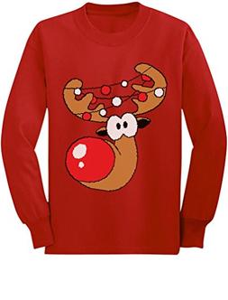 TeeStars - Reindeer Funny Christmas Youth Kids Long Sleeve T