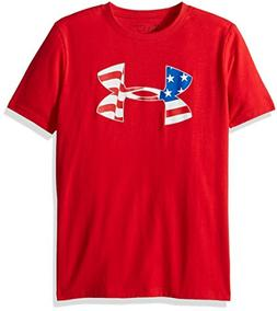 Under Armour Boys Americana Pride T-Shirt, Red/White, Youth