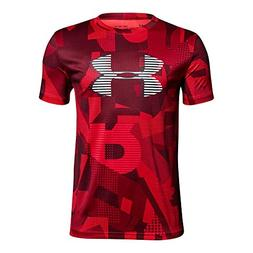Under Armour Boys' Tech Big Logo Printed T-Shirt, Red /White