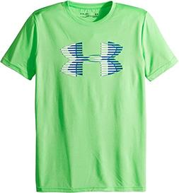 Under Armour Boys' Tech Big Logo Solid T-Shirt, Arena Green