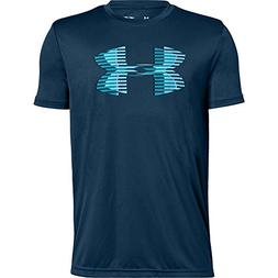 Under Armour Boys Tech Big Logo Solid T-Shirt, Youth Large,