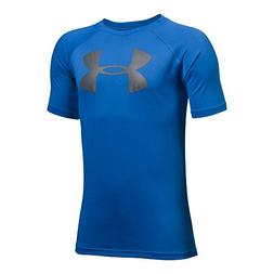 Under Armour Boys' Tech Big Logo T-Shirt, Ultra Blue /Graphi