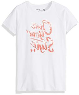 Under Armour Girls' Own Your Style T-Shirt, White/Brilliance