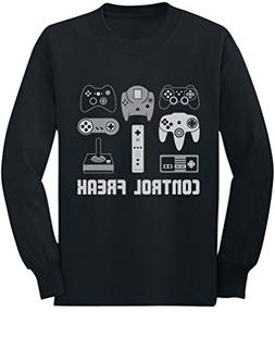 Video Game Control Freak Gaming Funny Gamer Youth Kids Long