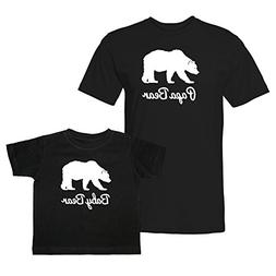 We Match! Papa Bear & Baby Bear Matching Adult T-Shirt & Chi
