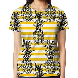 WuLion Retro Striped Background with Pineapple Figures Vinta