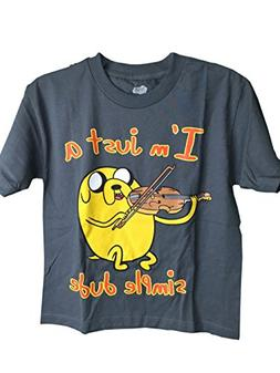 Youth Adventure Time I'm Just a Simple Dude Tee Shirt Medium
