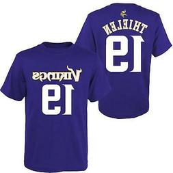 Adam Thielen Minnesota Vikings #19 NFL Purple Boys T-Shirt -
