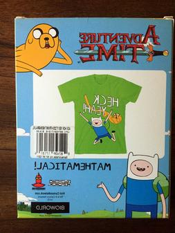 "Adventure Time T-Shirt ""Heck Yeah!""  / Youth L/XL or Adult S"