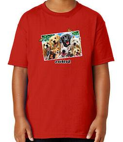 Animals in Frame Kid's T-shirt Wild Life Zoo Party  Tee for