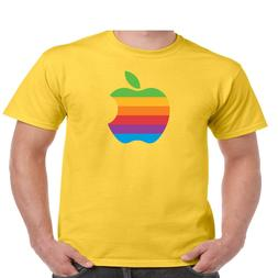 apple logo t shirt men s