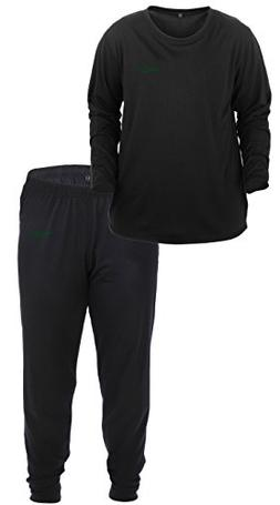 Lucky Bums Kid's Base Layer Long Sleeve Crewneck and Pants S