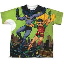 Trevco Batman Getaway-S by S Youth Poly Crew Sublimation T-S