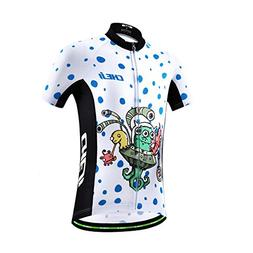 CH&Q Kids Boys Girl Bicycle Jersey T Shirt Cycling Top Breat