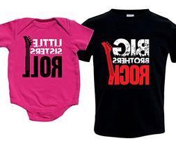 big brothers rock little sisters roll shirt