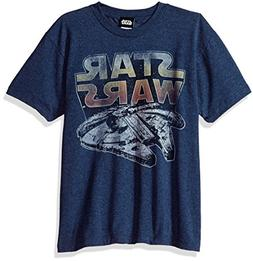 Star Wars Big Boys' Millenium Falcon Sunset Logo Graphic Tee