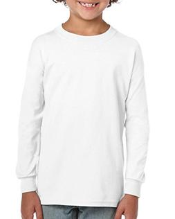 Gildan Little Kids Ultra Cotton Youth Long Sleeve T-Shirt, 2