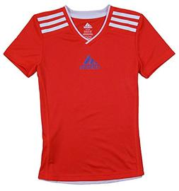 Adidas Big Girls Youth 3-stripe V-neck Athletic Shirt