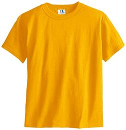 Russell Big Boys' Youth Nublend T-Shirt, Gold, Small