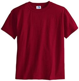Russell Big Boys' Youth Nublend T-Shirt, Cardinal, Large