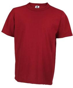 Russell Big Boys' Youth NuBlend T-Shirt, Cardinal, Small