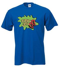 KING THREADS BLUE Double Dare Logo Nickelodeon T-Shirt YOUTH