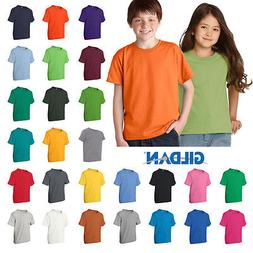 Gildan Boys Girls Youth DryBlend 50/50 T-Shirt Plain Basic T