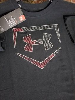 Boys Kids Youth Under Armour T-Shirt NEW Black short sleeve