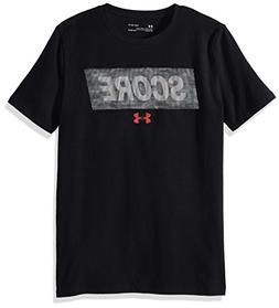 Under Armour Boys' Lenticular Score More T-Shirt, Black /Red