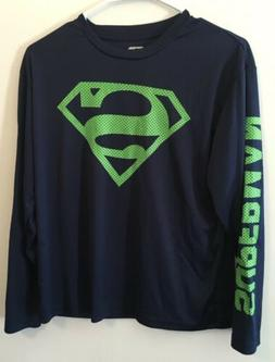 Dc Comics boys long sleeve Superman T-shirt Youth size large
