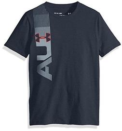 Under Armour Boys' One Sided T-Shirt, Stealth Gray /Red