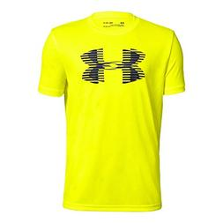Under Armour Boys' Tech Big Logo Solid T-Shirt, High-Vis Yel