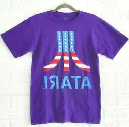 Boys Tops Youth Small Atari American Flag Graphic T-Shirts