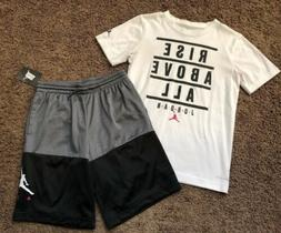 Boys Youth Nike Jordan Outfit Shorts NEW NWT T-shirt Lot Siz