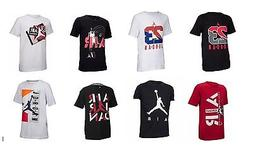 Boys Youth Nike Jordan T Shirt Tee Red White Black Blue AJ 2
